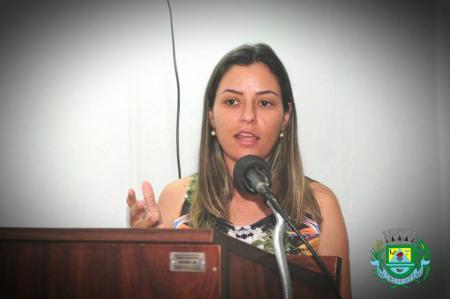 Prefeita Marcela, participa da sessão solene na câmara de Vereadores