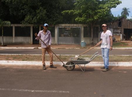 Prefeitura realiza limpeza de ruas de Corguinho