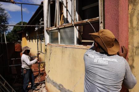 Prefeitura realiza serviços de manutenção e reparo na Unidade Básica de Saúde de Corguinho