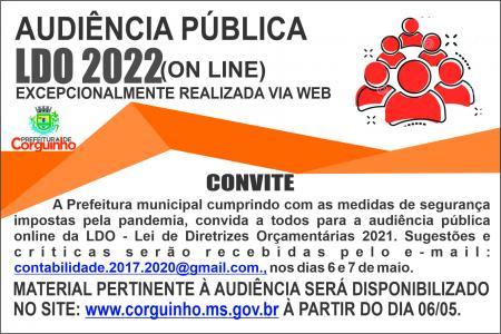 Audiência Pública LDO - Online