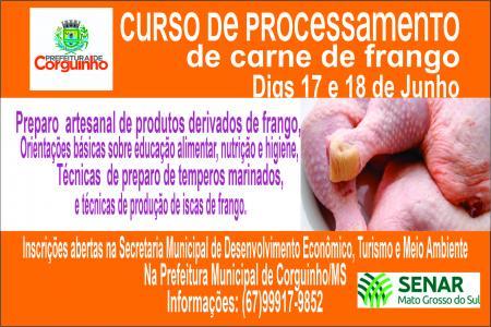 CURSO DE PROCESSAMENTO DE CARNE DE FRANGO