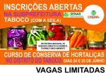 Curso de Conserva de Hortaliças no Taboco