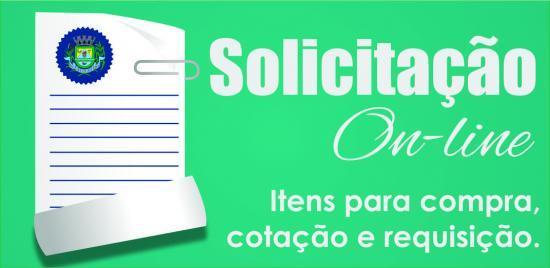 Logotipo do serviço: Requerimento de itens para compra